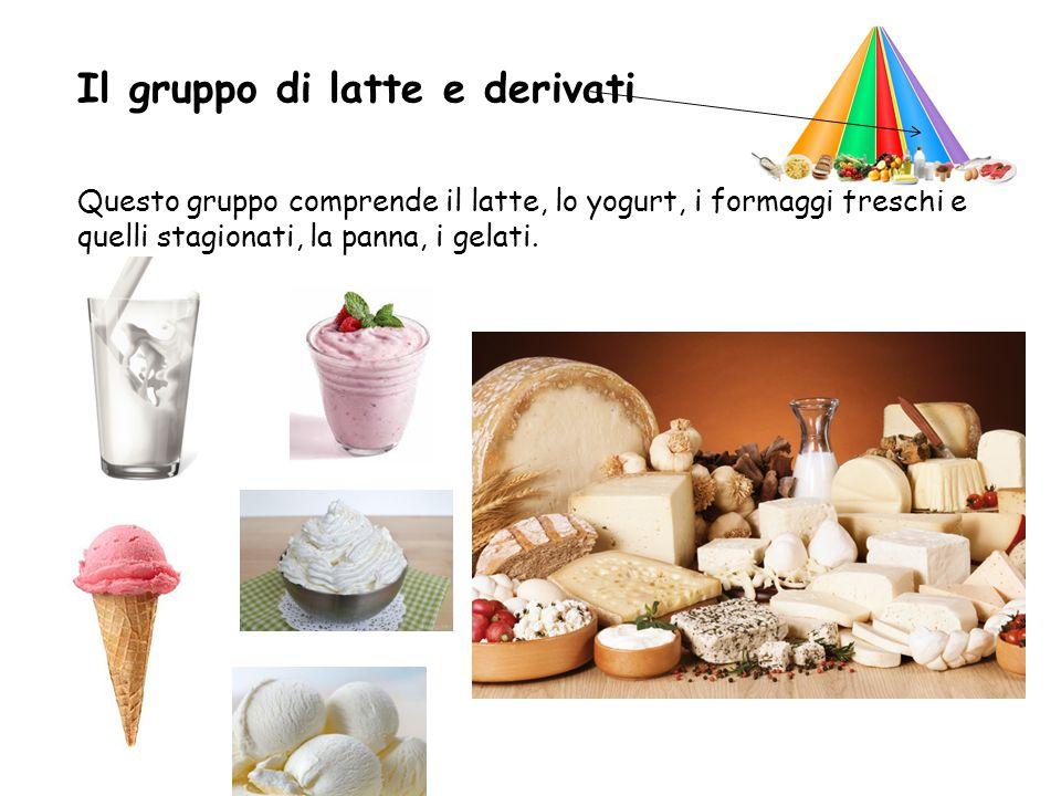 Il gruppo di latte e derivati