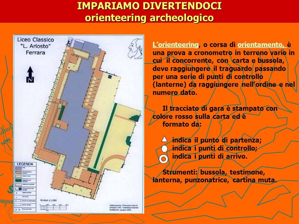 IMPARIAMO DIVERTENDOCI orienteering archeologico
