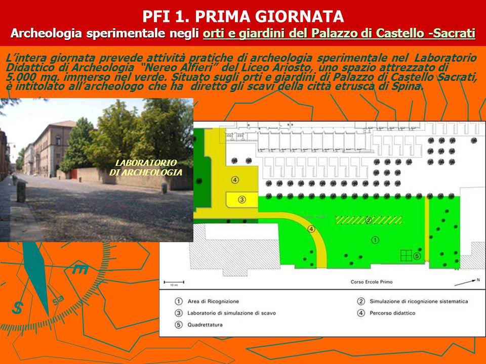 PFI 1. PRIMA GIORNATA Archeologia sperimentale negli orti e giardini del Palazzo di Castello -Sacrati