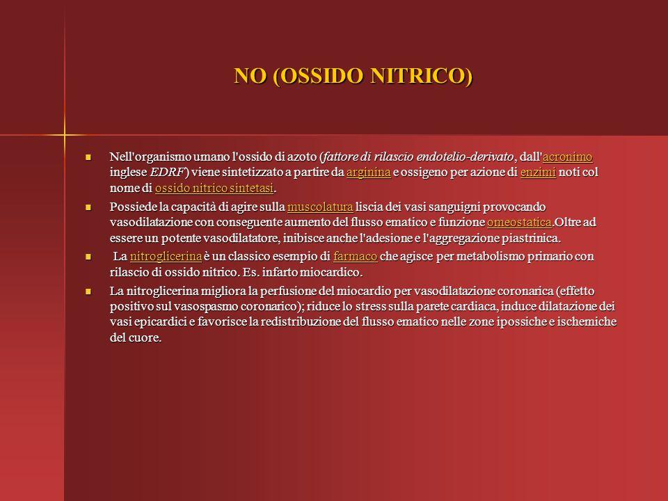 NO (OSSIDO NITRICO)