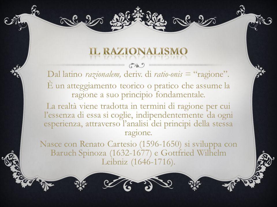 Dal latino razionalem, deriv. di ratio-onis = ragione .