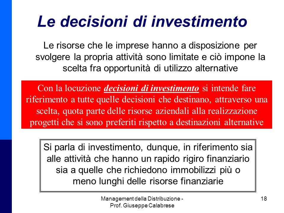 Le decisioni di investimento