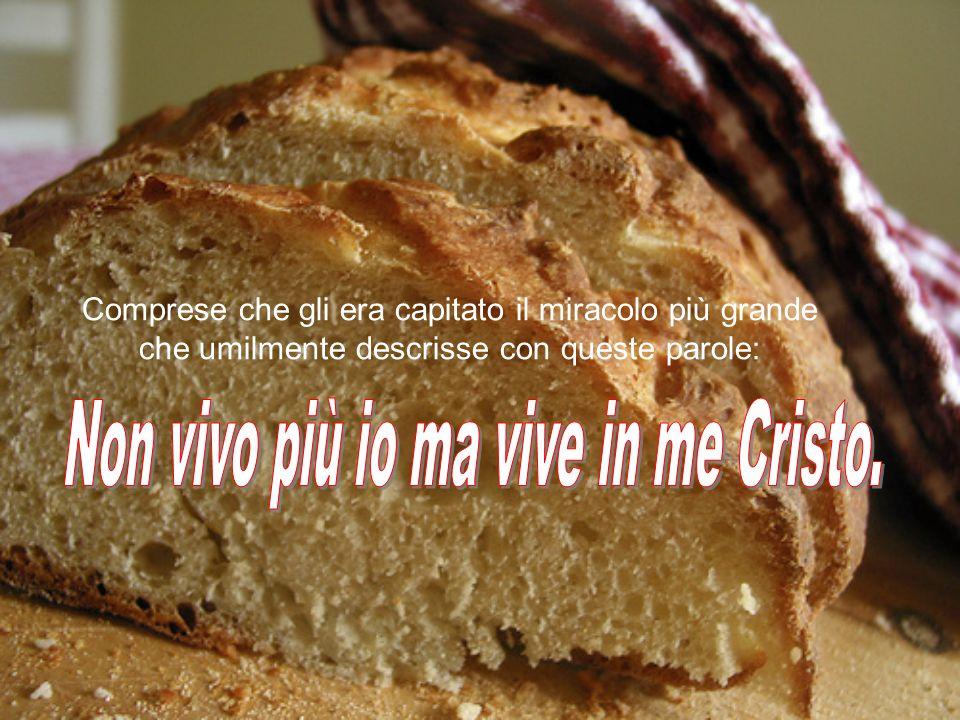 Non vivo più io ma vive in me Cristo.