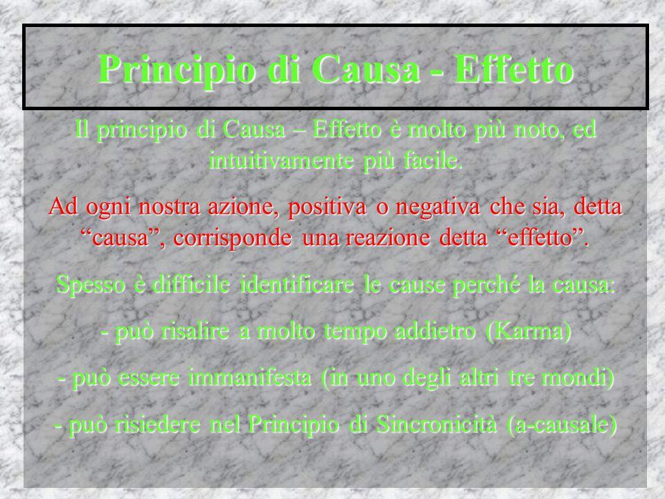 Principio di Causa - Effetto