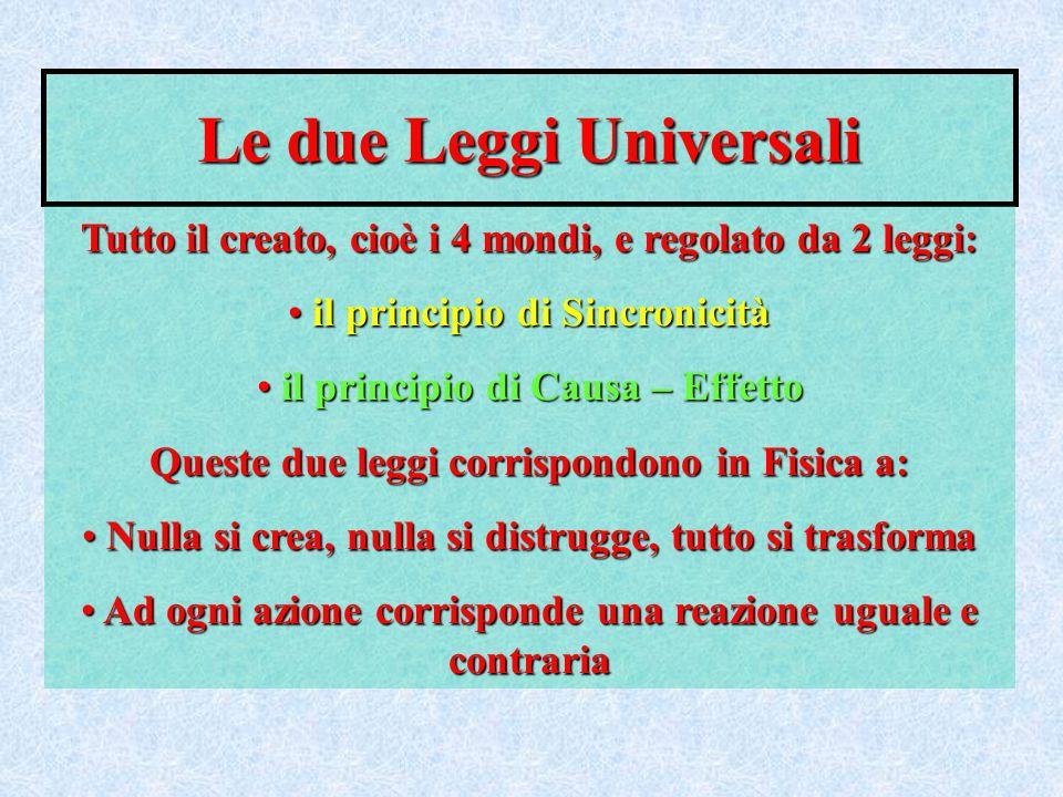 Le due Leggi Universali