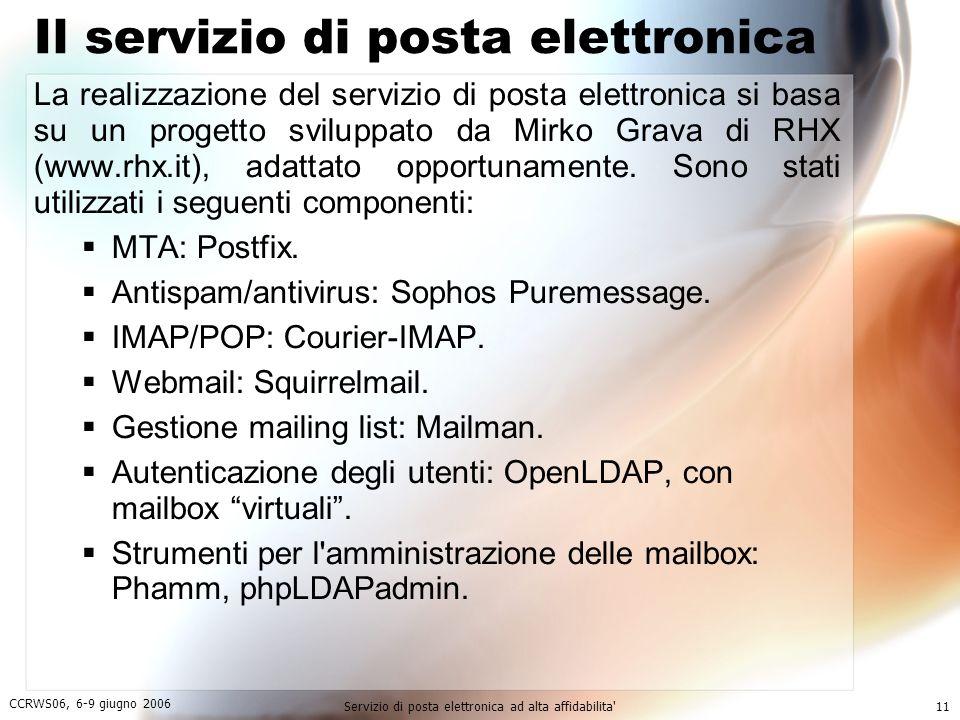 Il servizio di posta elettronica