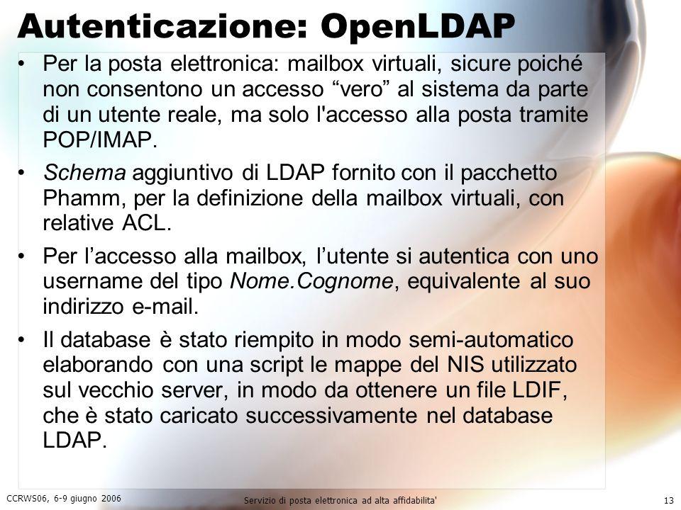Autenticazione: OpenLDAP