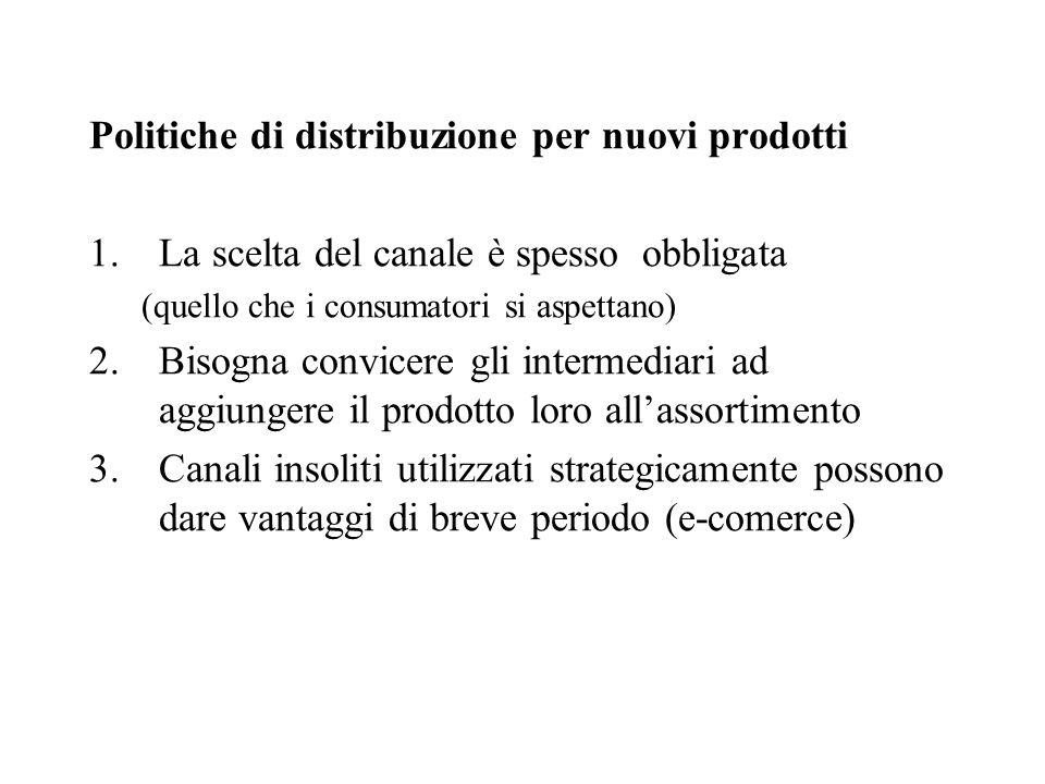 Politiche di distribuzione per nuovi prodotti