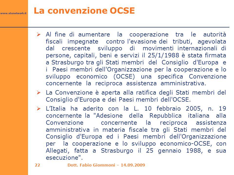 La convenzione OCSE