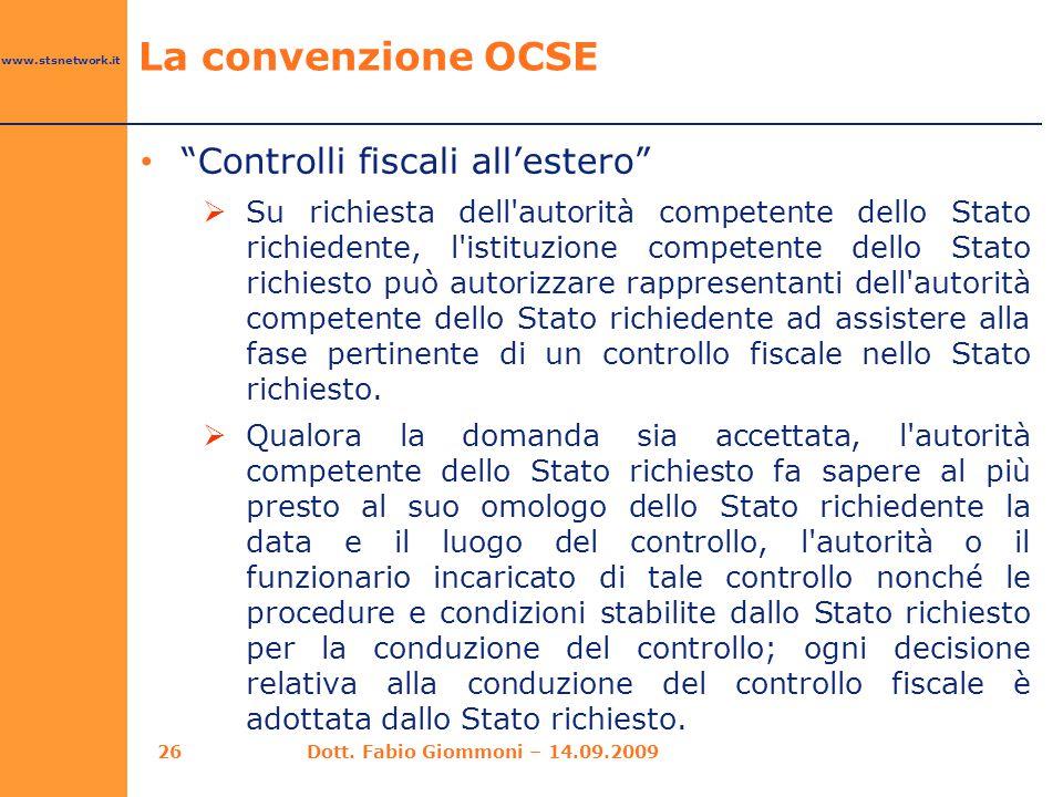 La convenzione OCSE Controlli fiscali all'estero