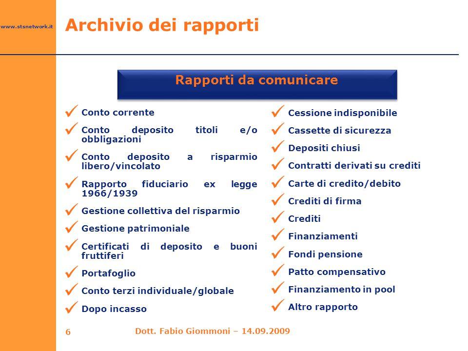 Rapporti da comunicare