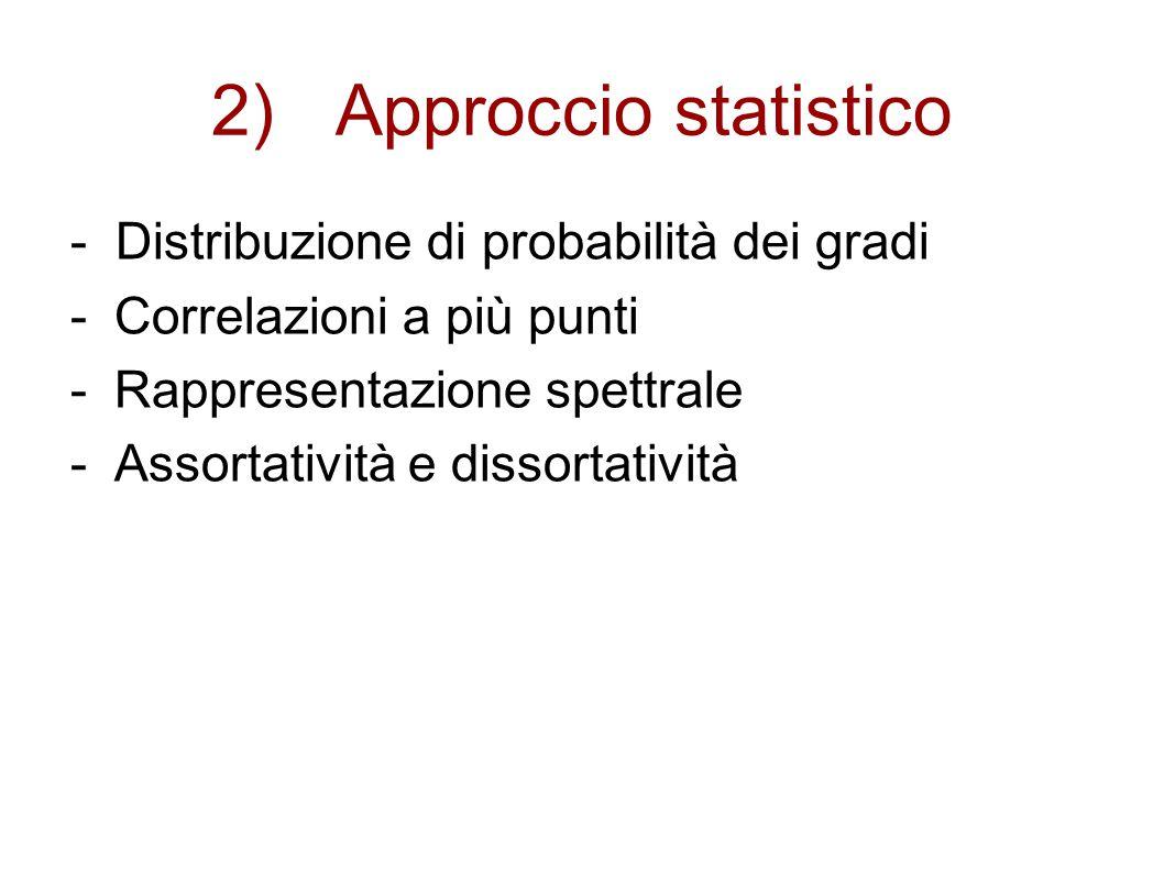 2) Approccio statistico