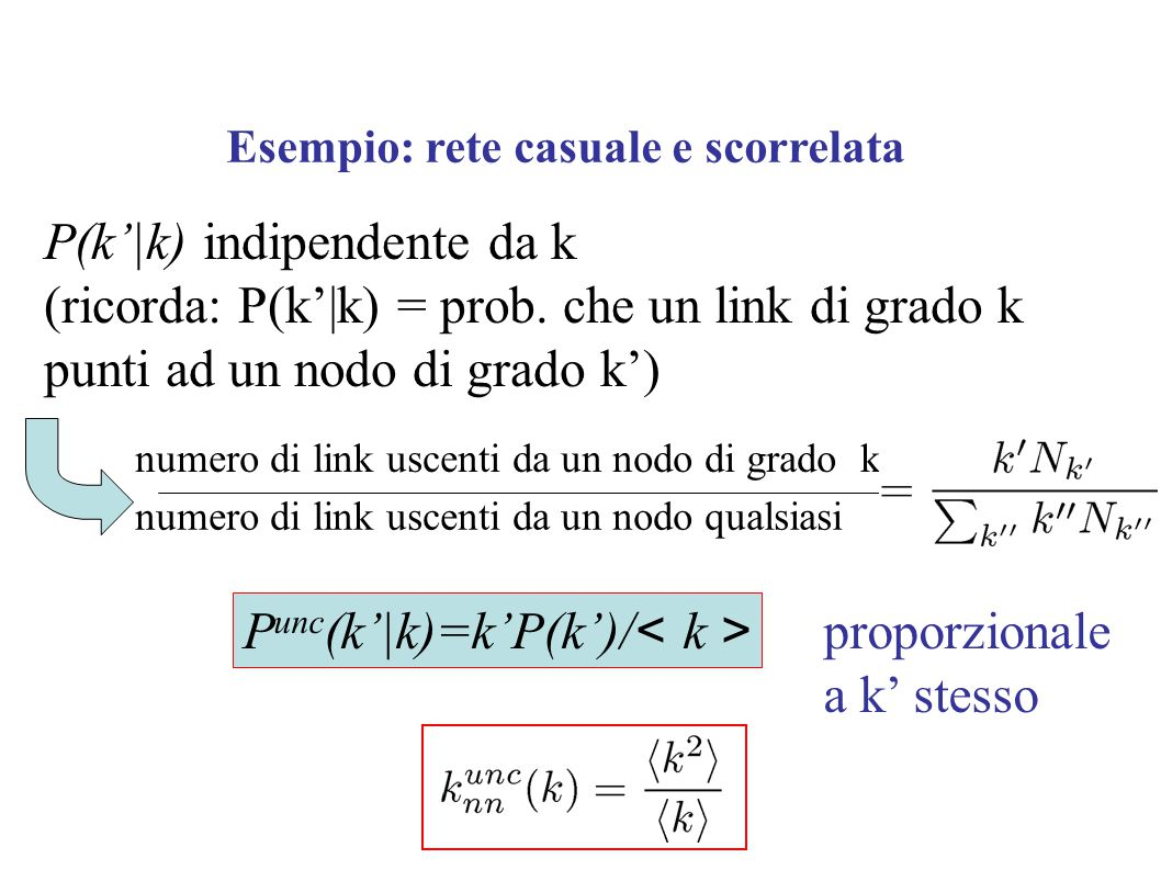 P(k'|k) indipendente da k