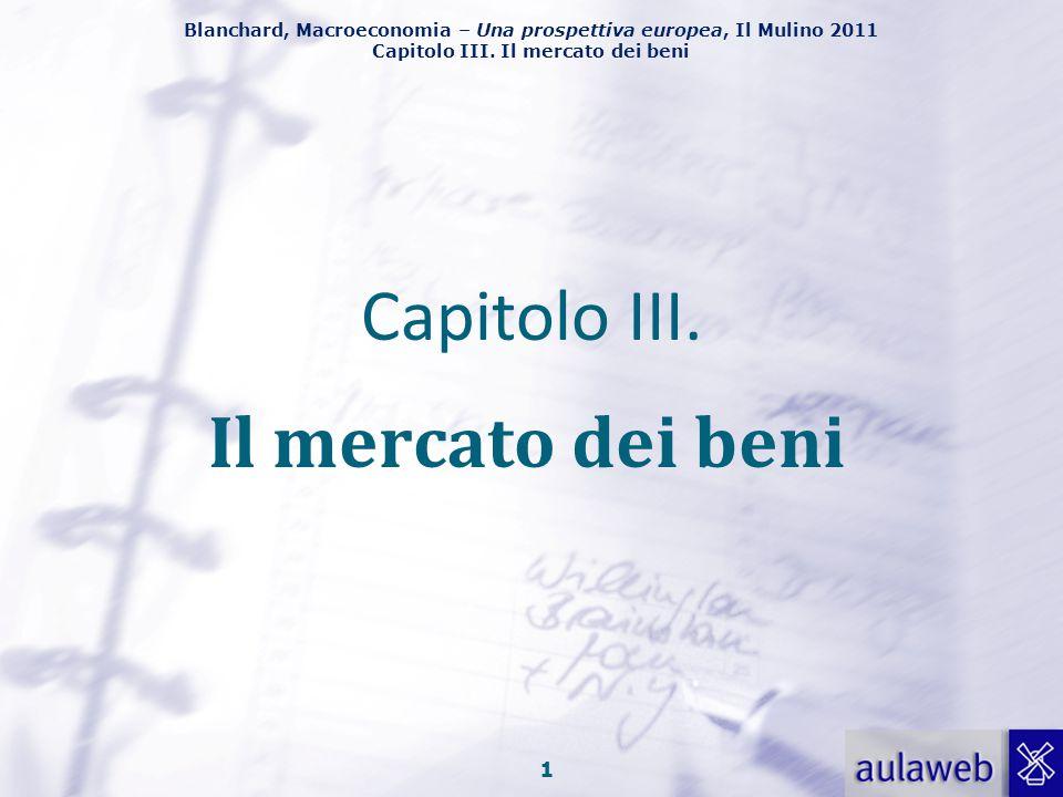 Capitolo III. Il mercato dei beni