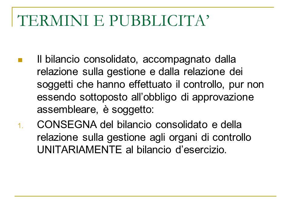 TERMINI E PUBBLICITA'