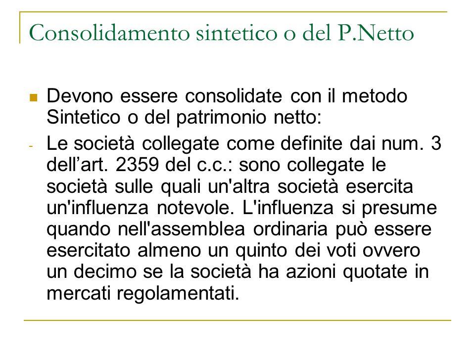 Consolidamento sintetico o del P.Netto