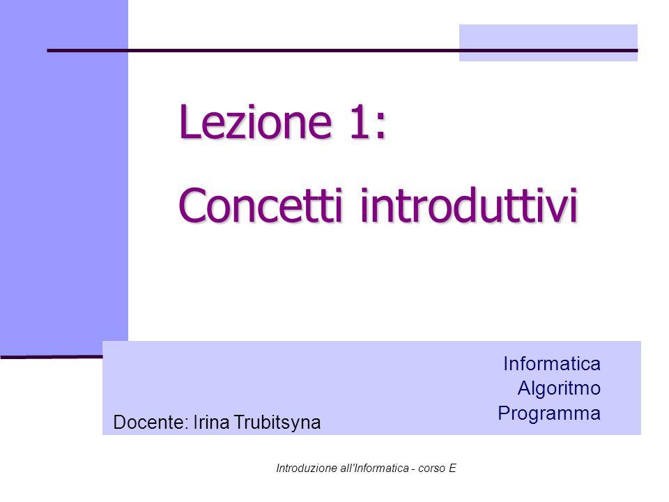 Lezione 1: Concetti introduttivi