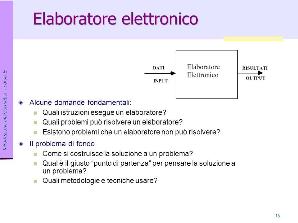 Elaboratore elettronico