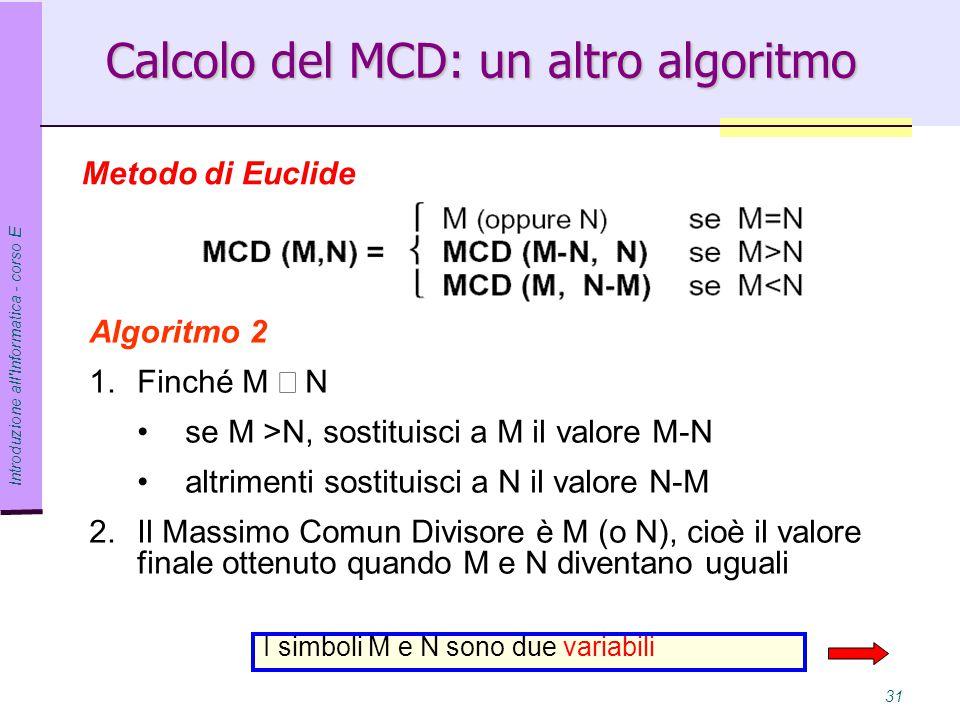 Calcolo del MCD: un altro algoritmo
