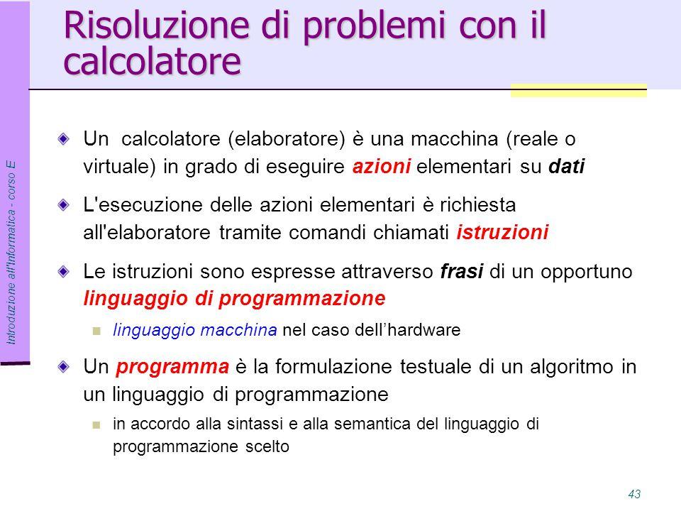 Risoluzione di problemi con il calcolatore