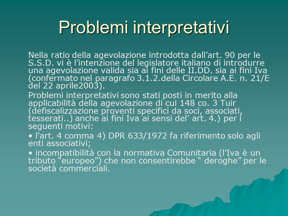 Problemi interpretativi