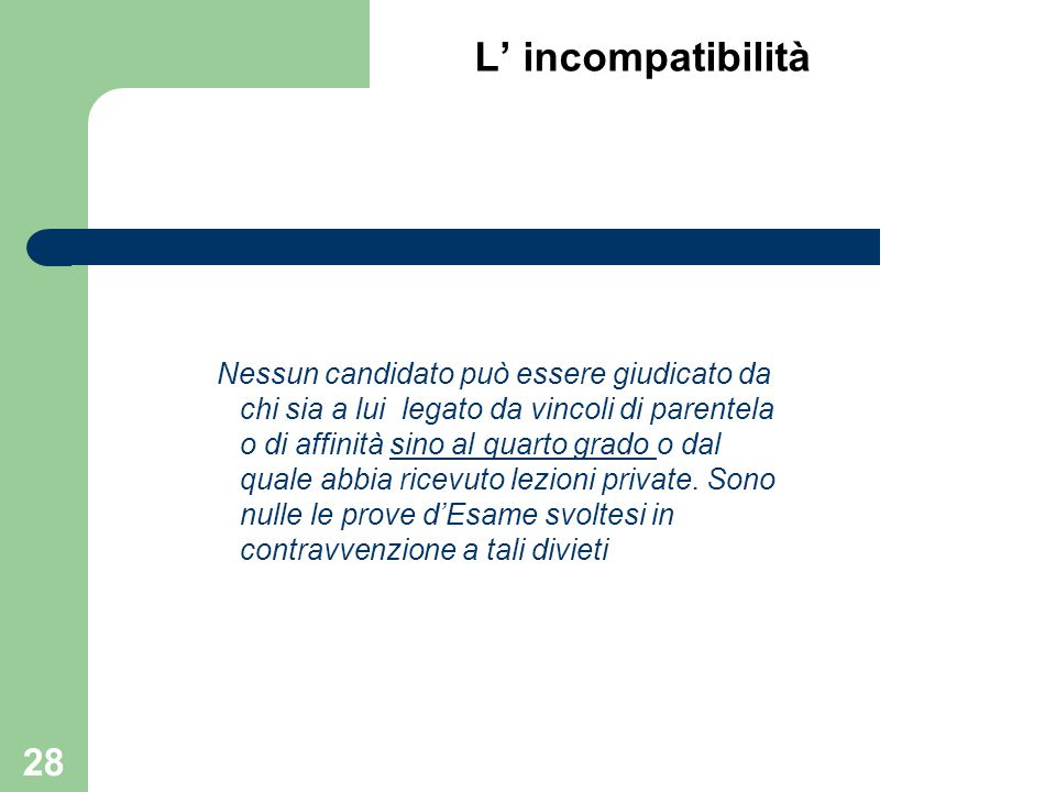 L' incompatibilità