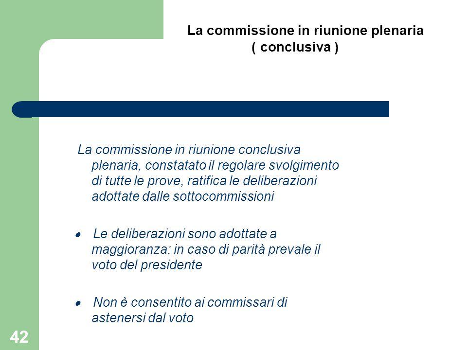 La commissione in riunione plenaria
