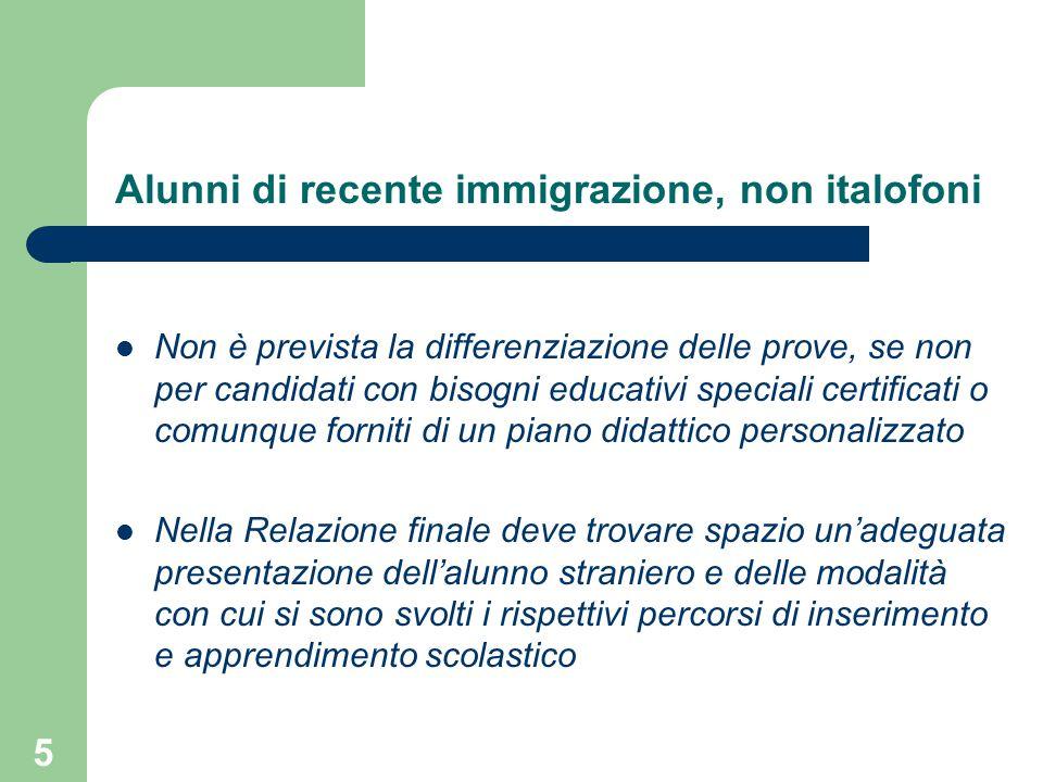 Alunni di recente immigrazione, non italofoni