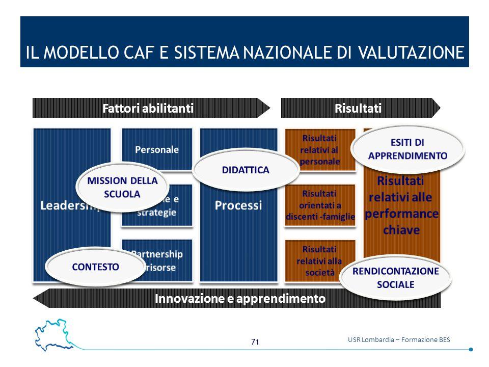 IL MODELLO CAF E SISTEMA NAZIONALE DI VALUTAZIONE