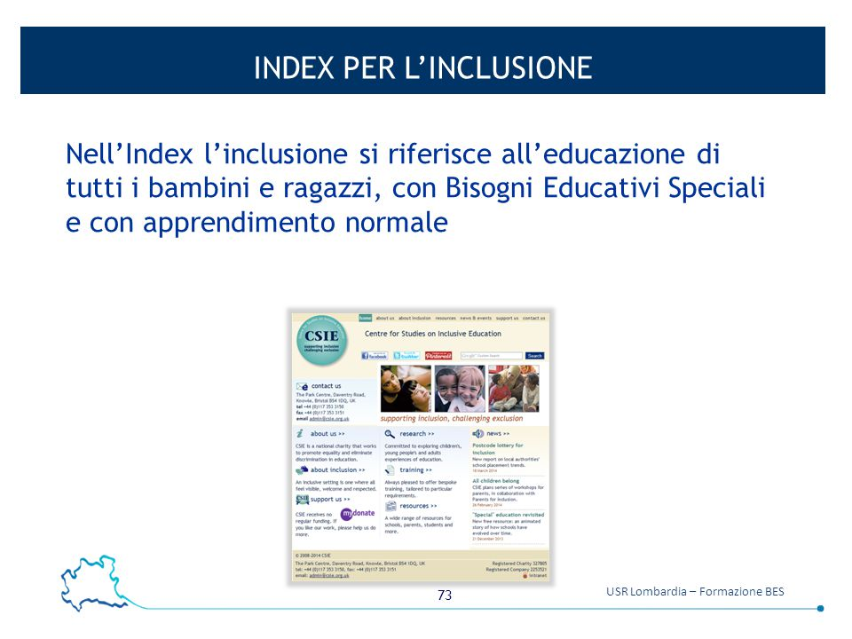 INDEX PER L'INCLUSIONE