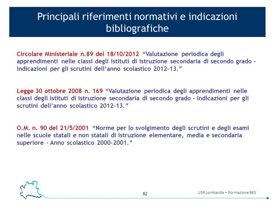 Principali riferimenti normativi e indicazioni bibliografiche