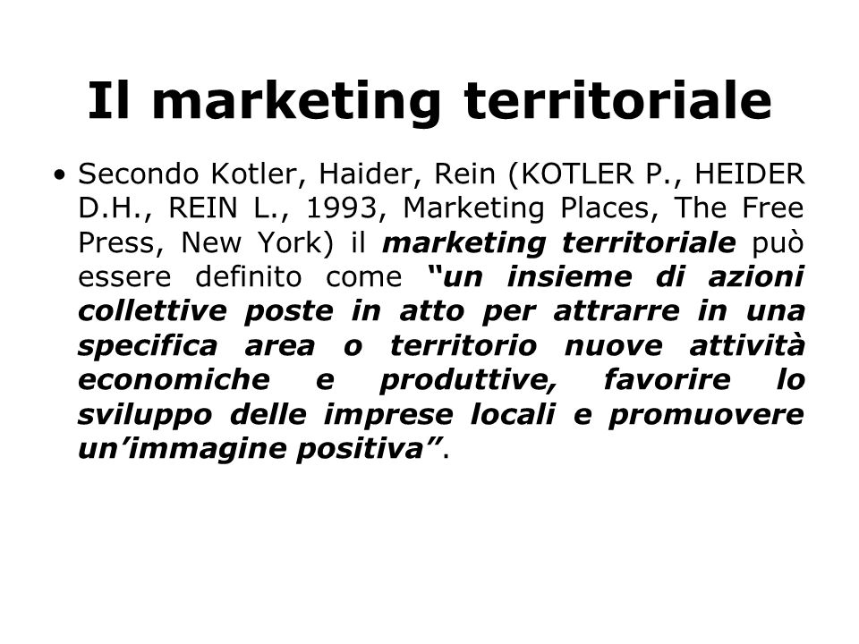 Il marketing territoriale