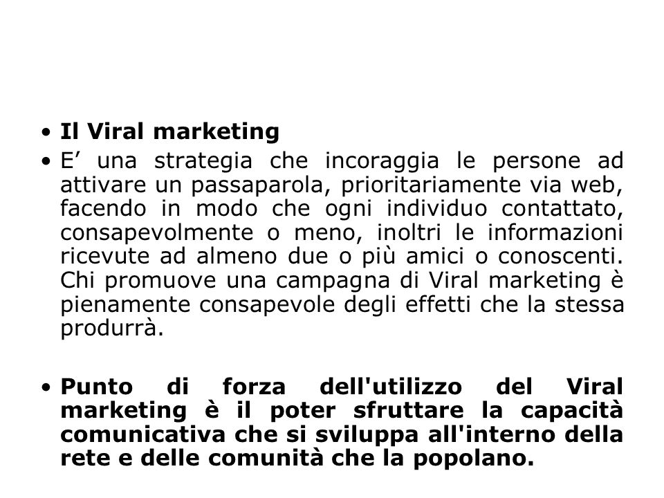 Il Viral marketing