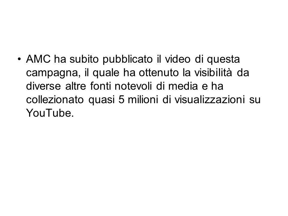 AMC ha subito pubblicato il video di questa campagna, il quale ha ottenuto la visibilità da diverse altre fonti notevoli di media e ha collezionato quasi 5 milioni di visualizzazioni su YouTube.