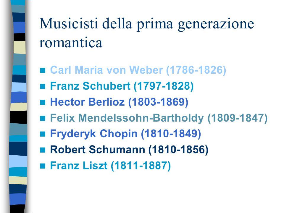Musicisti della prima generazione romantica