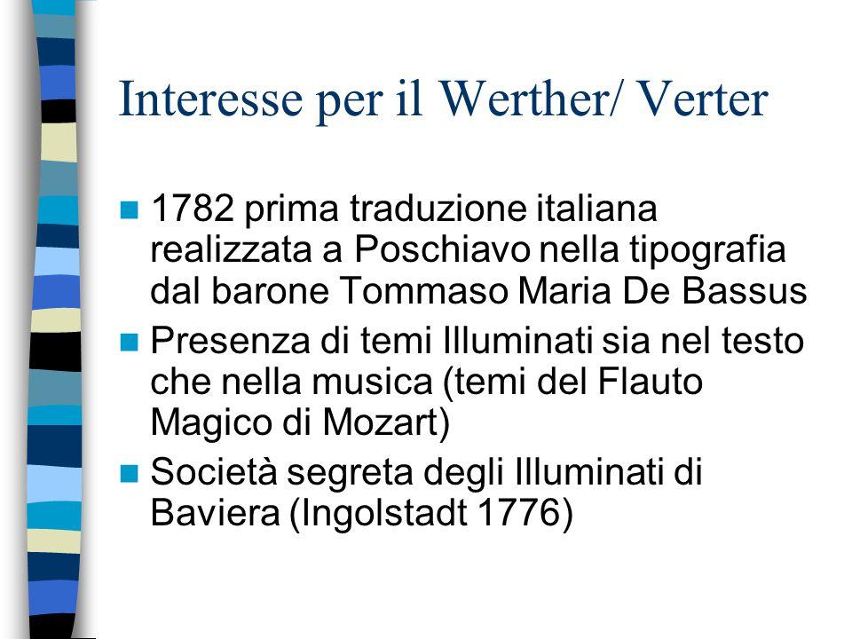 Interesse per il Werther/ Verter