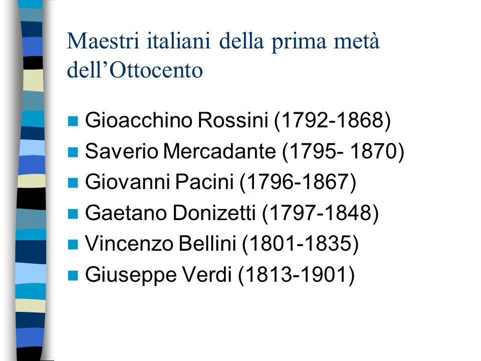 Maestri italiani della prima metà dell'Ottocento