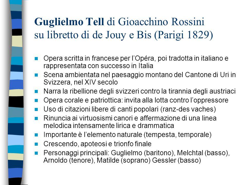 Guglielmo Tell di Gioacchino Rossini su libretto di de Jouy e Bis (Parigi 1829)