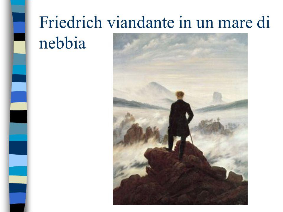 Friedrich viandante in un mare di nebbia