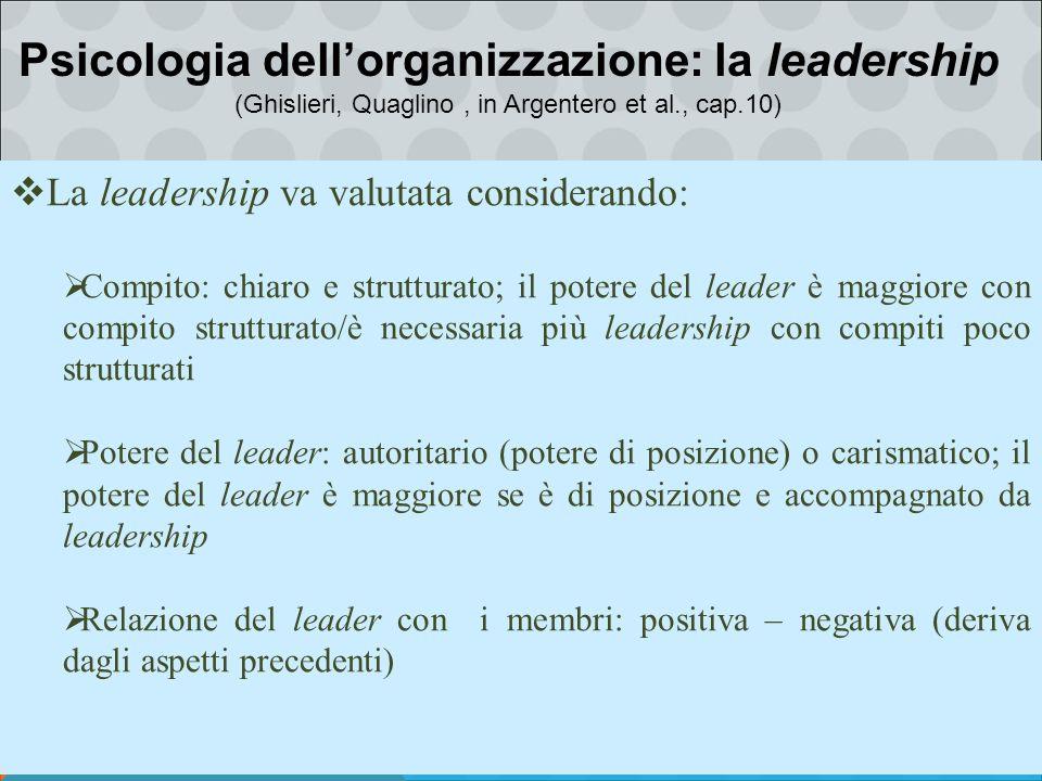 Psicologia dell'organizzazione: la leadership