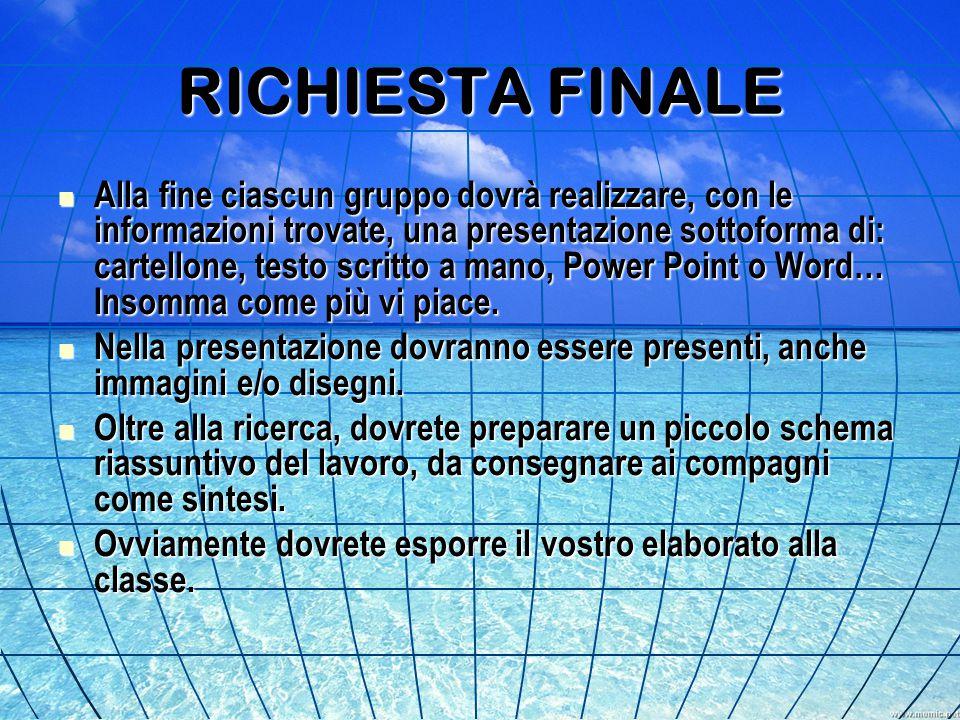 RICHIESTA FINALE