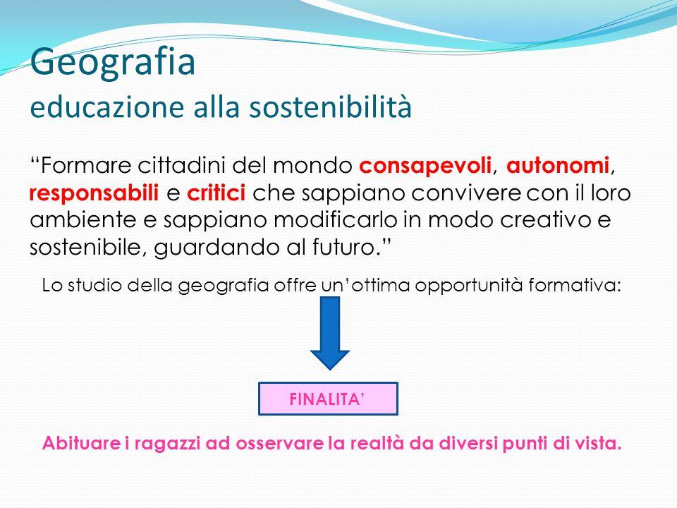 Geografia educazione alla sostenibilità