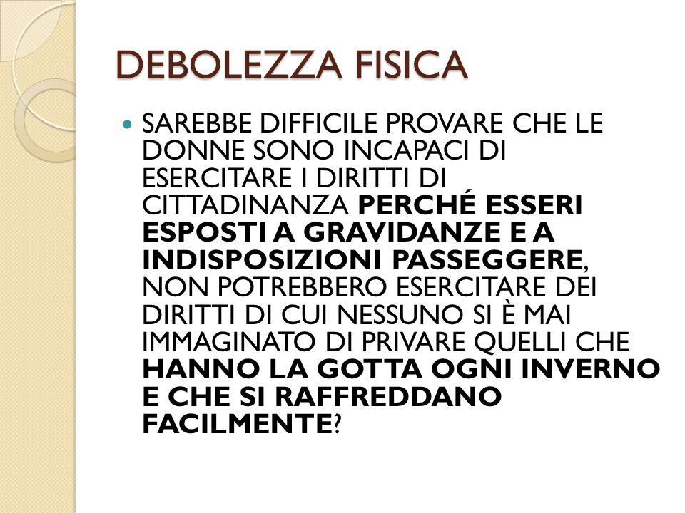DEBOLEZZA FISICA