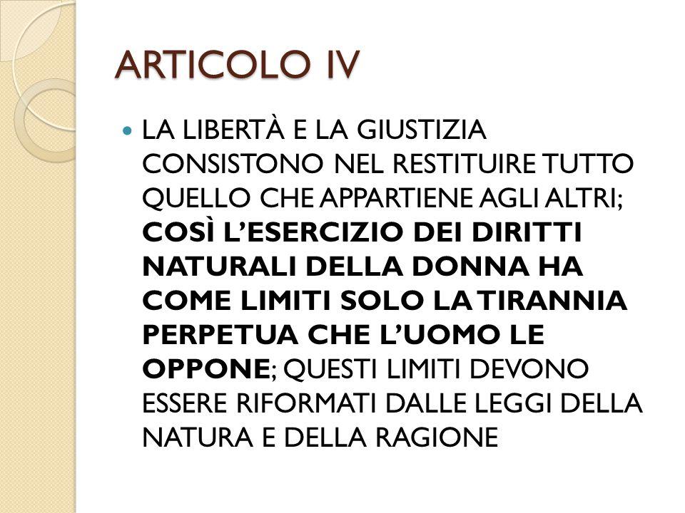 ARTICOLO IV