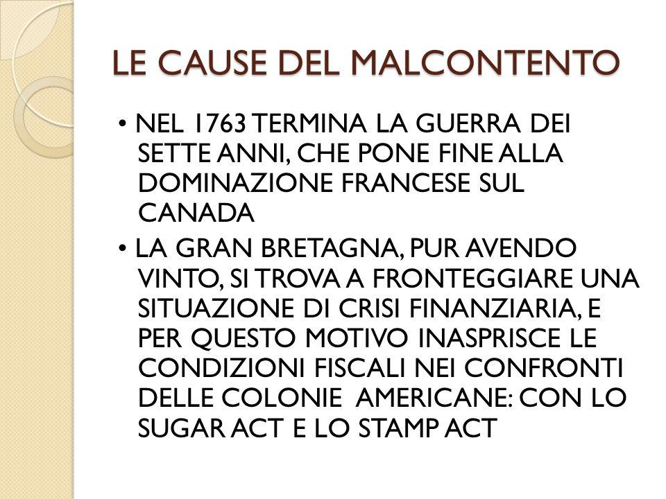 LE CAUSE DEL MALCONTENTO