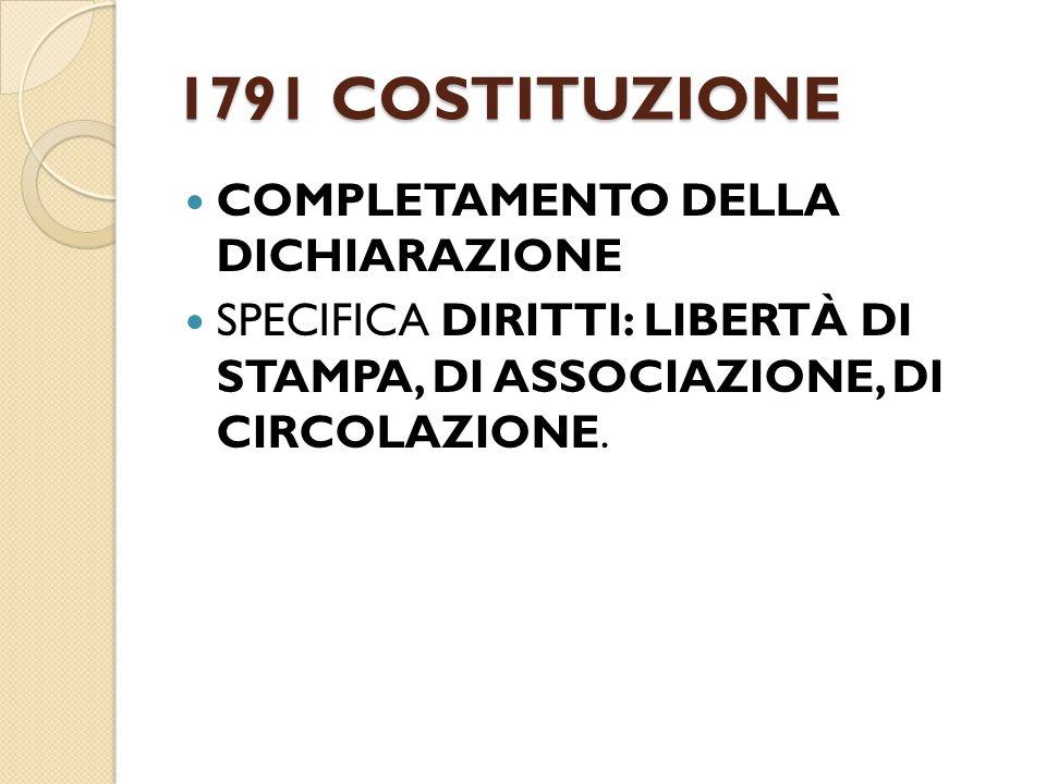 1791 COSTITUZIONE COMPLETAMENTO DELLA DICHIARAZIONE