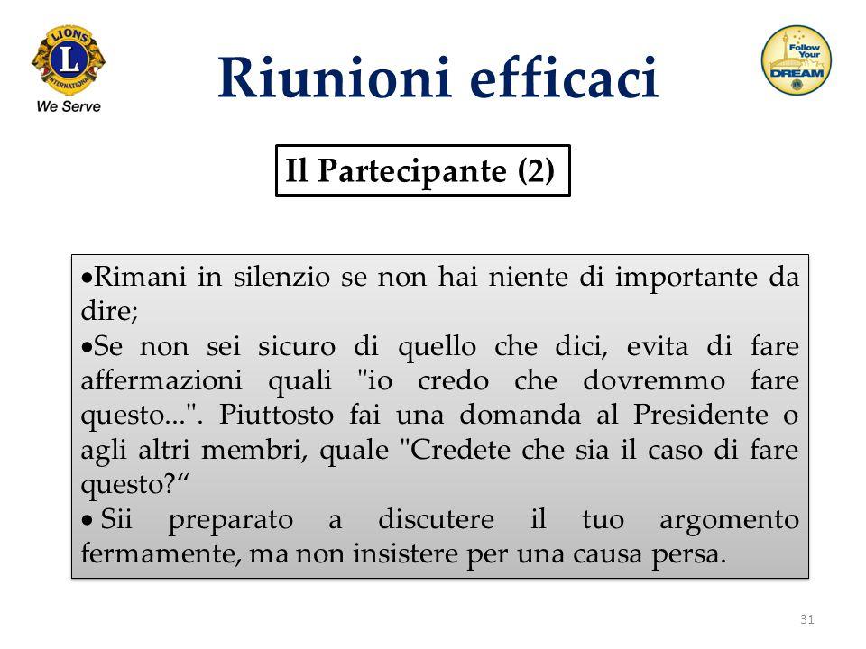 Riunioni efficaci Il Partecipante (2)