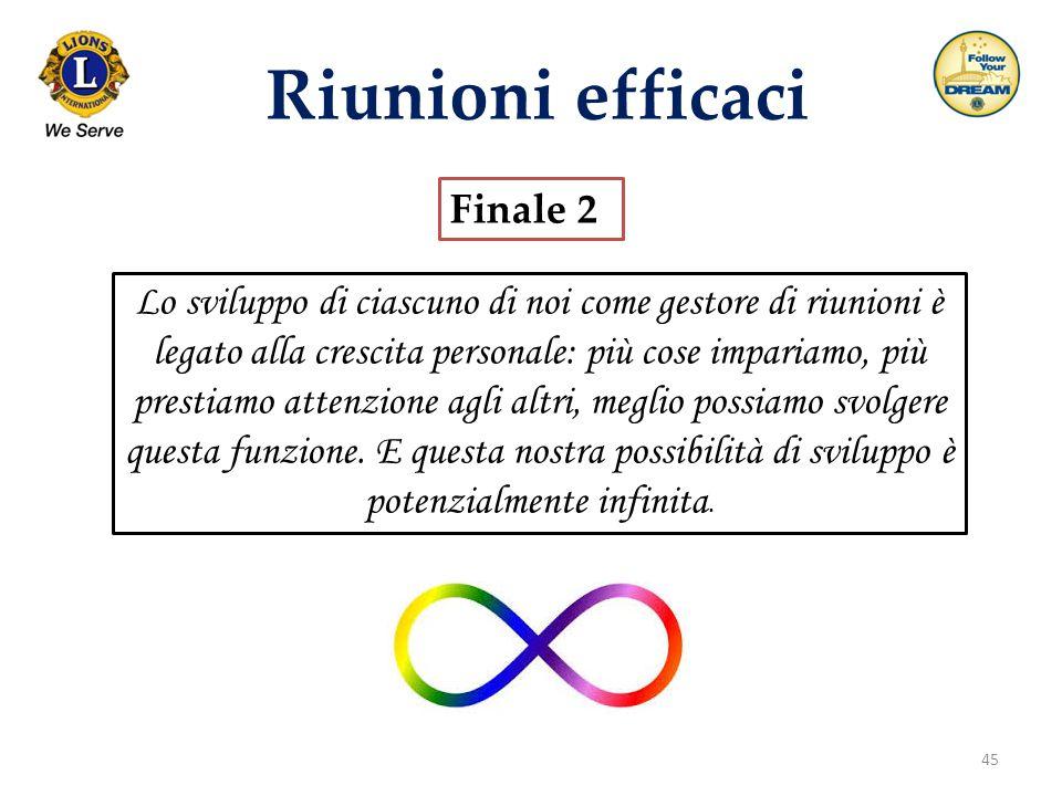 Riunioni efficaci Finale 2