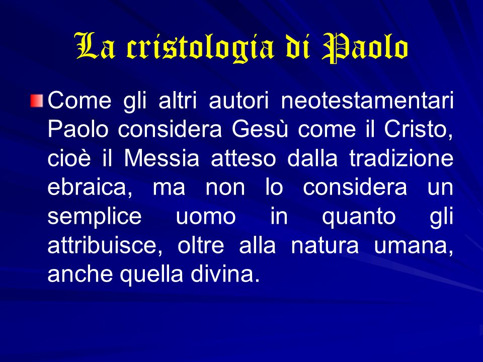 La cristologia di Paolo
