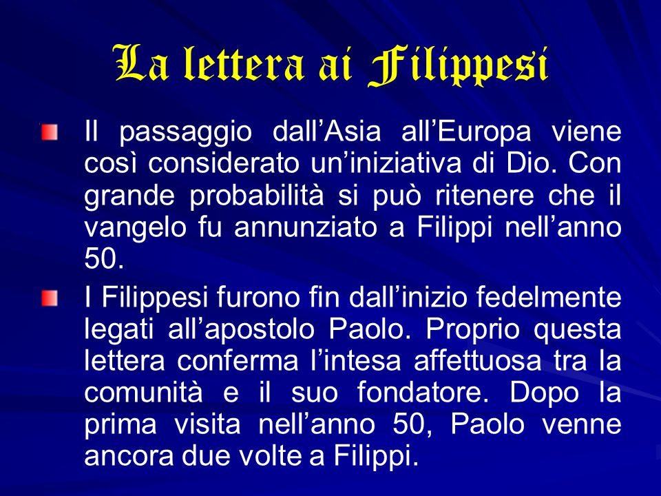 La lettera ai Filippesi